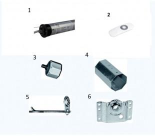 Kit Ferramenta + Motore domoself con Radiocomando
