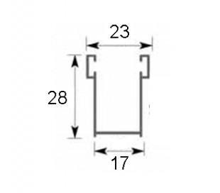 Guide in alluminio 17x28 mm