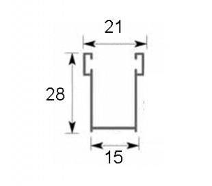 Guide in alluminio 15x28 mm